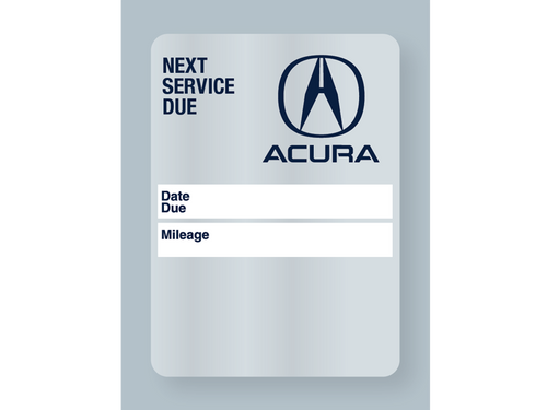 Acura Service Reminder Stickers - Handwritten
