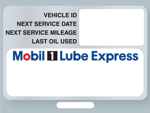 Mobil 1 Lube Express Service Stickers - ISI