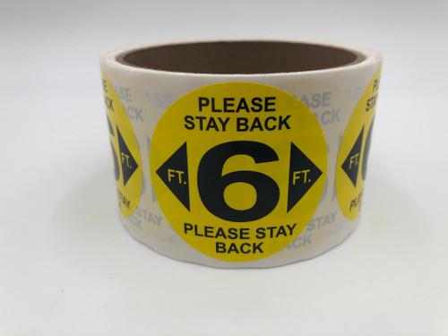 6ft Social Distancing Sticker