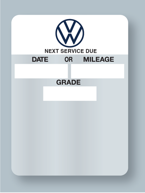 Volkswagon Oil Sticker - Static Cling