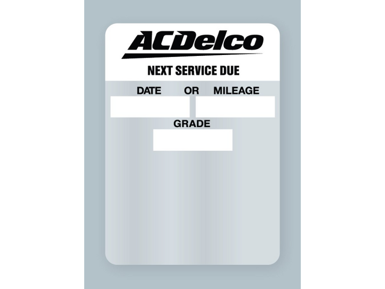 ACDelco Oil Change Stickers - rolls of 500.