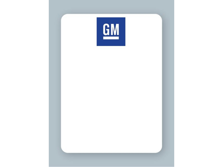 GM Oil Change Stickers - For use in an oil sticker printer