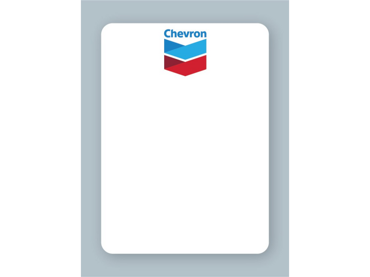Chevron Oil Change Stickers - For use in an oil sticker printer
