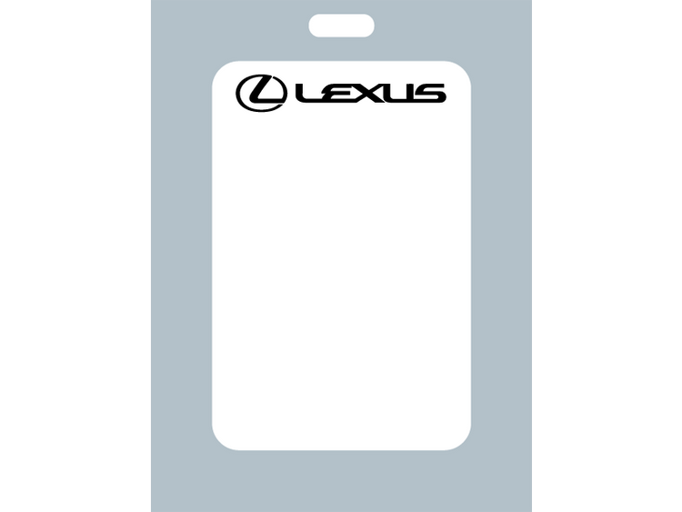 Zebra style labels with Lexus branding are ideal for Lexus dealers or enthusiasts who want to remind their customers when to return for an oil change. These stickers are printer compatible with Zebra TLP print systems.
