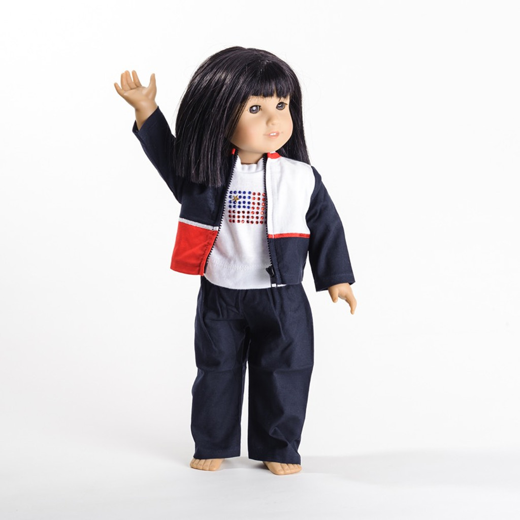 "Gymnastics Warm Up Set for 18"" Doll"