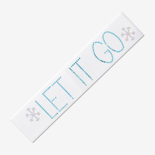 White Gymnastics Headband -LET IT GO