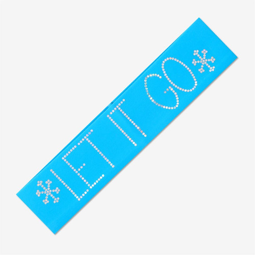 Turquoise Gymnastics Headband - LET IT GO