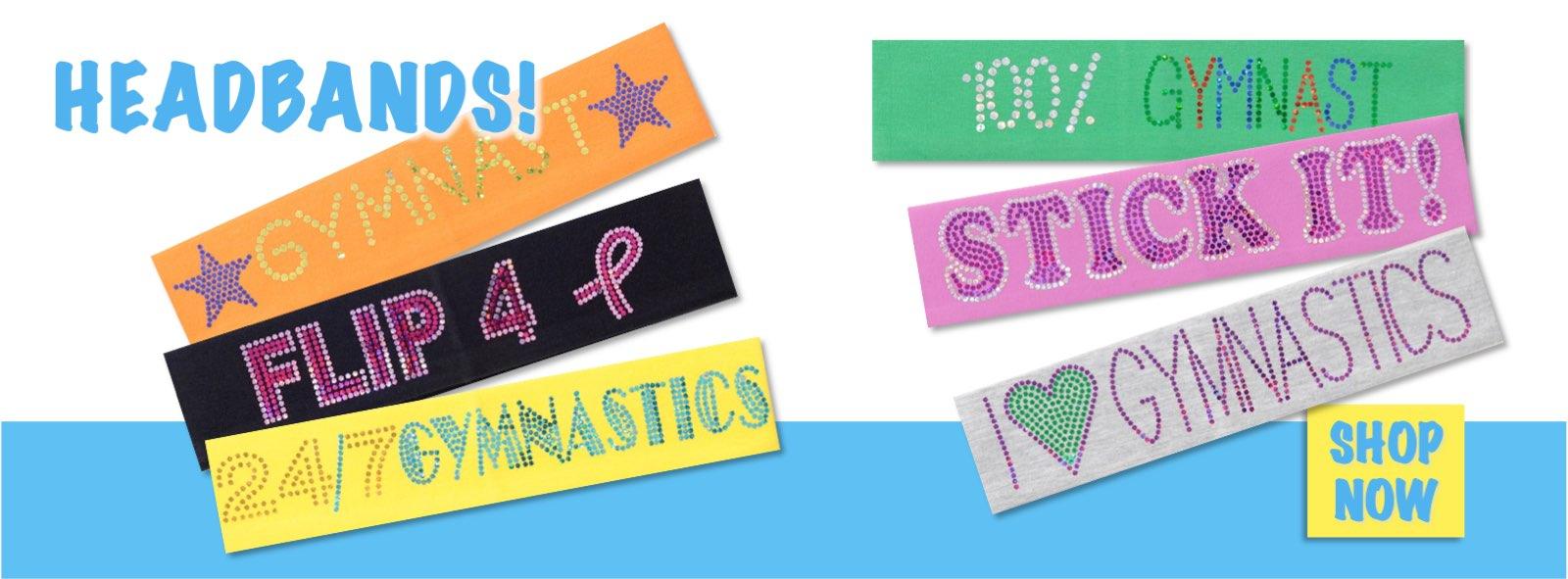 Buy Gymnastics Headbands Here - Original Designs, Big Selection!