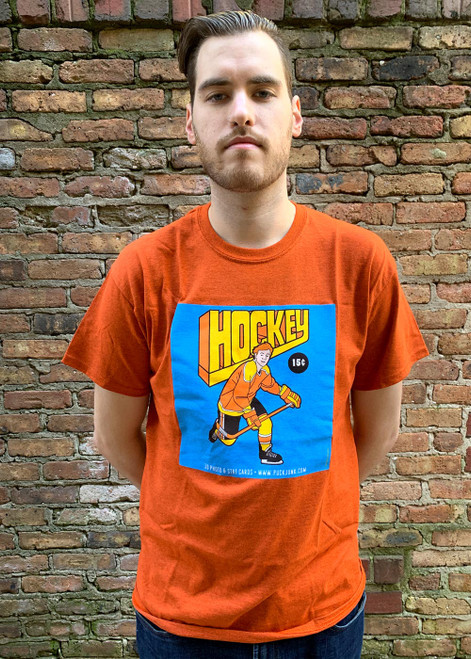 Hockey Card Wrapper T-Shirt #3: 1970s Skater