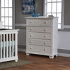 Pali Lucca Collection 5 Drawer Dresser in White