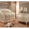 Natart Allegra 2 Piece Nursery Set in French White - Crib and 3 Drawer Dresser