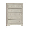 Biltmore by Heritage Amherst 2 Piece Nursery Set in Antique White - 6dr Chest and Crib