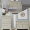 Biltmore by Heritage Amherst 3 Piece Nursery Set in Antique White