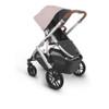 Uppa Baby Vista V2 Stroller - in Alice (dusty pink/silver frame/saddle leather)