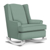 Best Chairs Willow Swivel Glider in Teal