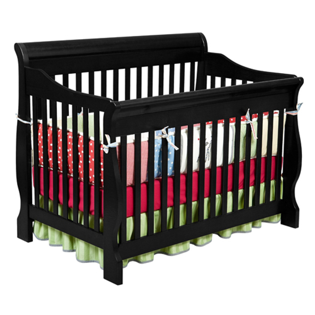 Delta Children Canton 4-in-1 Convertible Baby Crib Black