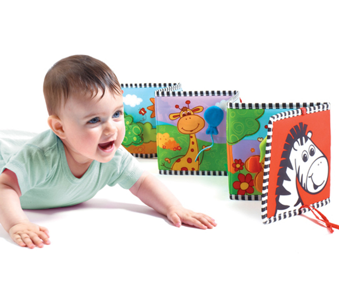 lion SOSPIRO Double-Sided First Book Baby Clip-on Book Cot /& Pram Use Babys First Double Sided Book Development Puzzle Animal Cloth Book Toy Best Gift for Baby