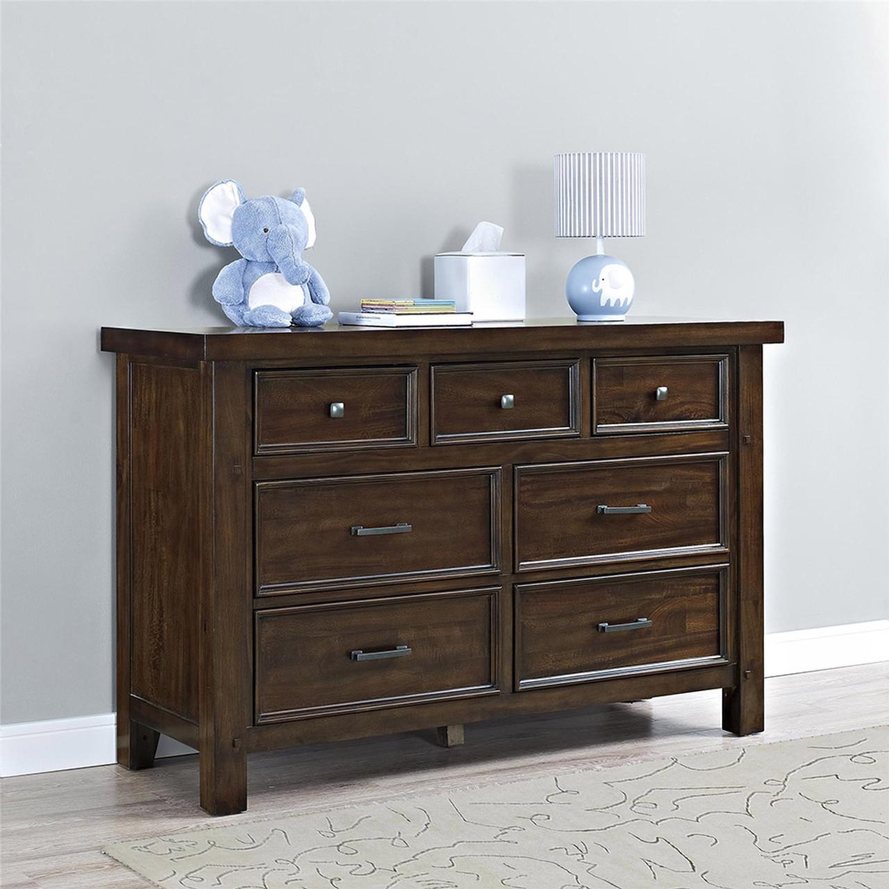Bertini Timber Lake 7 Drawer Dresser In Dark Walnut Bambi Baby Store