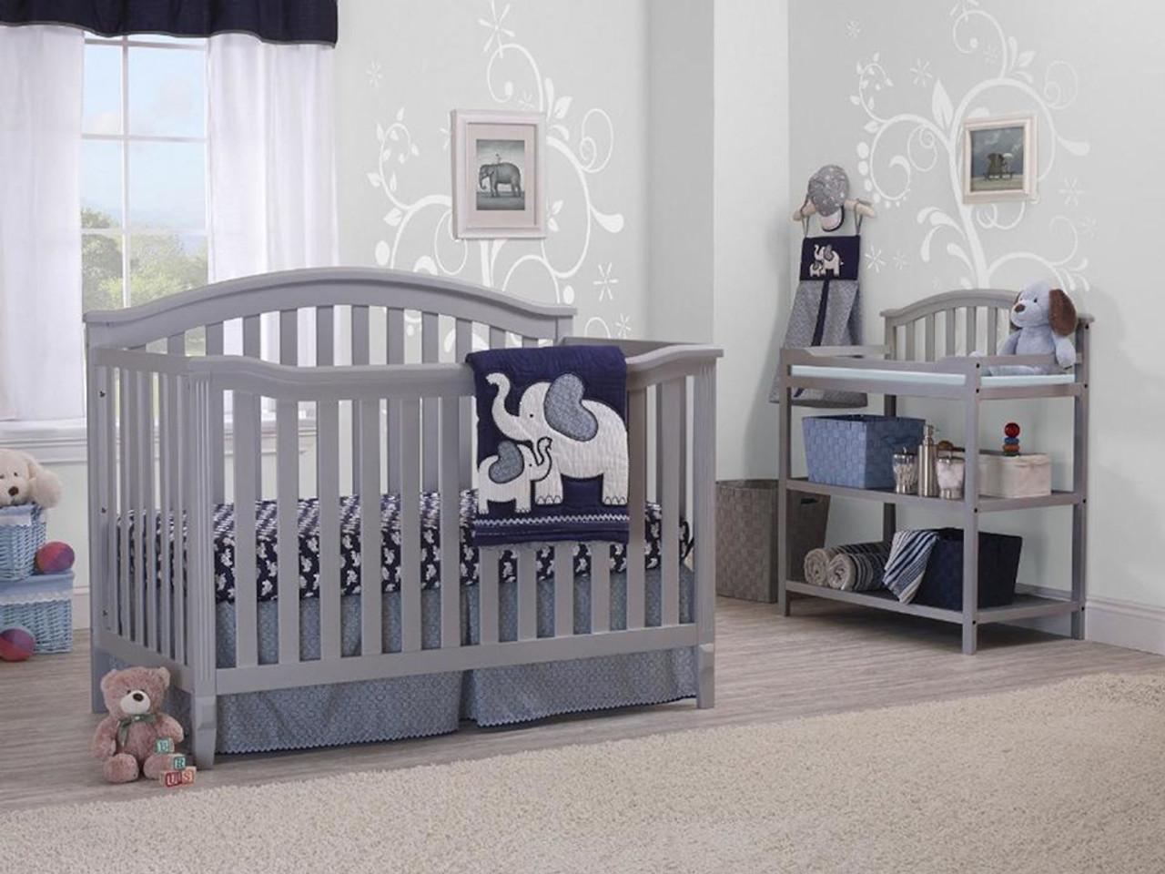 Sorelle Berkley Crib In Gray Bambi Baby Store