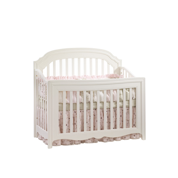 Natart Allegra Collection Convertible Crib in French White