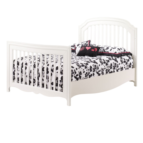 Natart Allegra Collection Double Bed Conversion Rails in French White