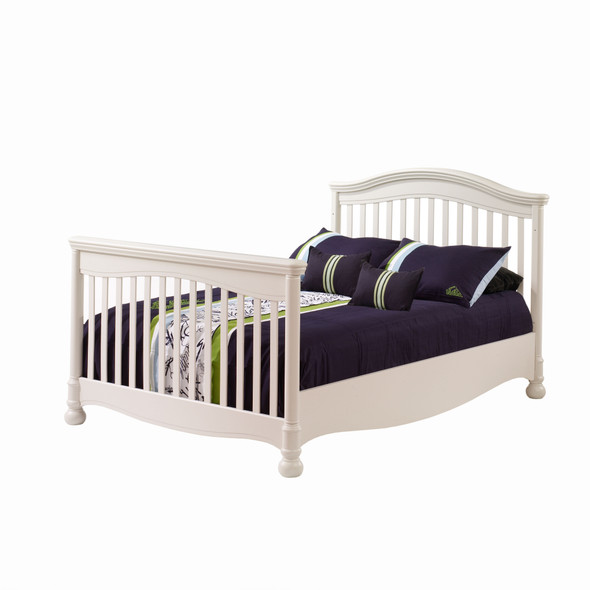Natart Avalon Collection Double Bed Conversion Rails in Linen