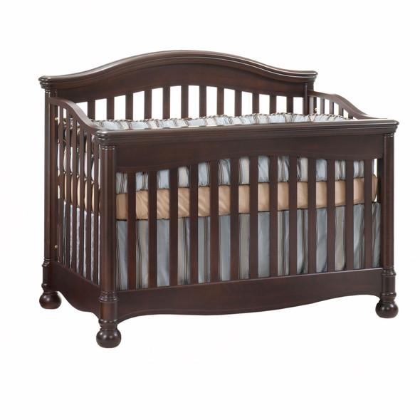 Natart Avalon Collection Convertible Crib in Cocoa