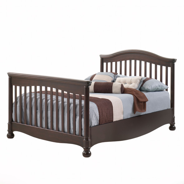 Natart Avalon Collection Double Bed Conversion Rails in Cocoa