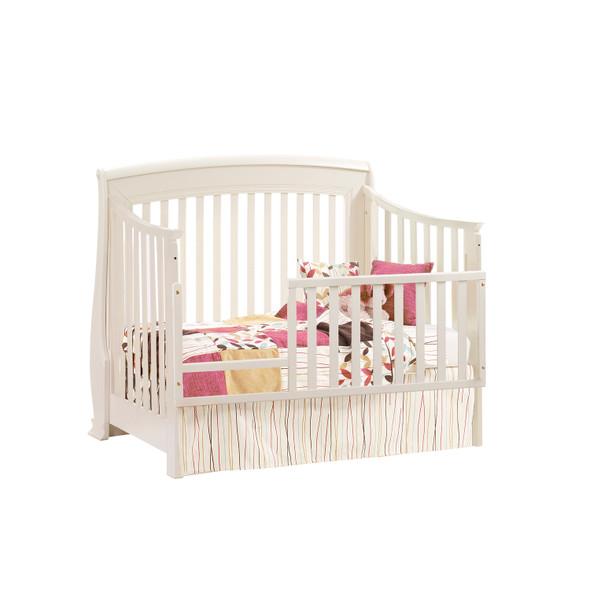 Natart Bella Collection Convertible Crib in Linen