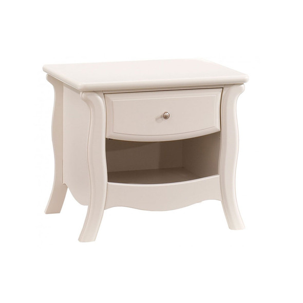 Natart Bella Collection Nightstand in Linen