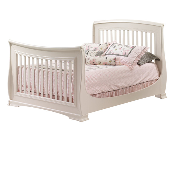 Natart Bella Collection Double Bed Conversion Rails for Bella Crib in Linen