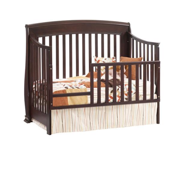 Natart Bella Collection Toddler Rail for Bella Crib in Cocoa