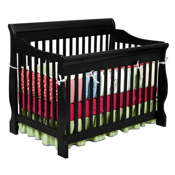 Delta Canton 4 in 1 Convertible Crib (Black)