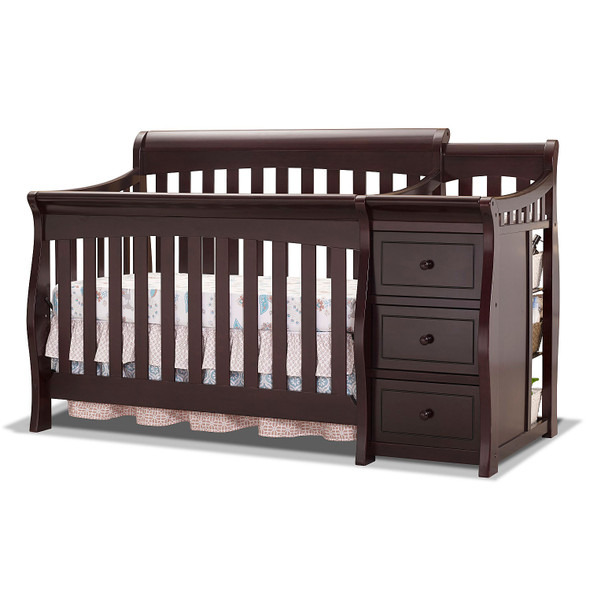 Sorelle Princeton Elite Crib & Changer in Espresso