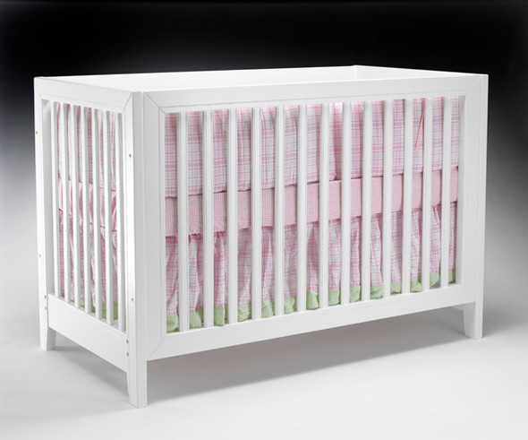 Sorelle City Lights Collection Crib with Mini Rail in White