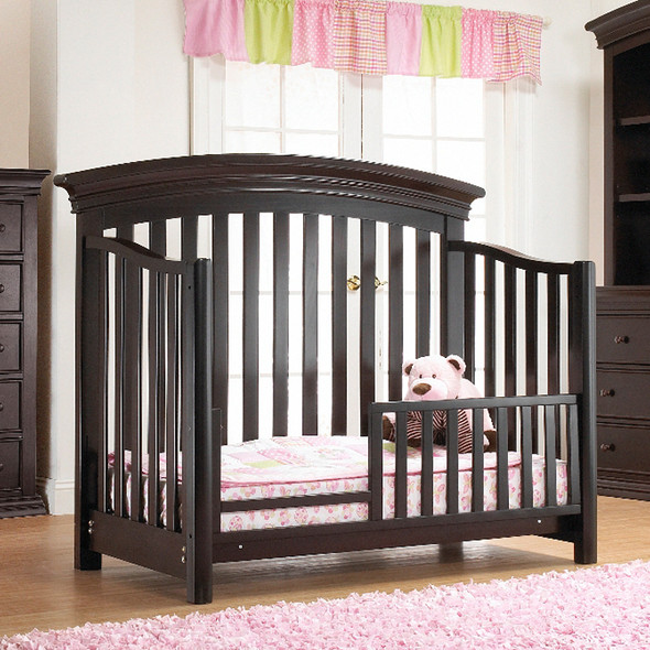 Sorelle Torino Collection Toddler Guard Rail in Classic Cherry