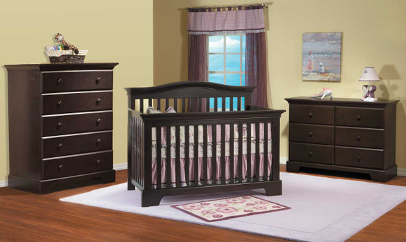Pali Volterra Collection Forever Crib in Mocacchino