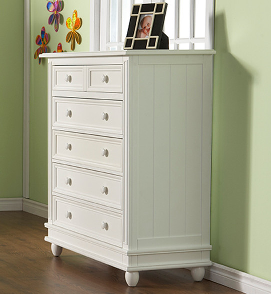 Pali Marina Five Drawer Dresser in White