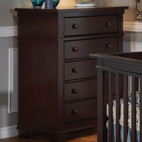 Pali Lucca Collection 5 Drawer Dresser in Mocacchino