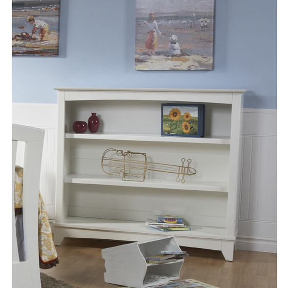 Pali Lucca Collection Bookcase Hutch in White
