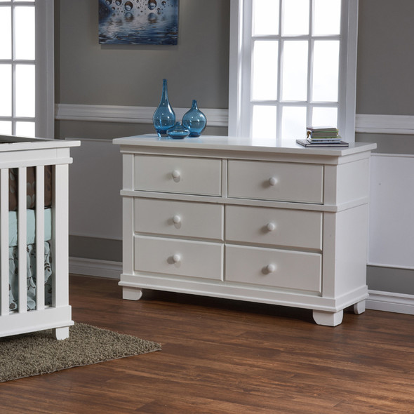 Pali Lucca Collection Double Dresser in White