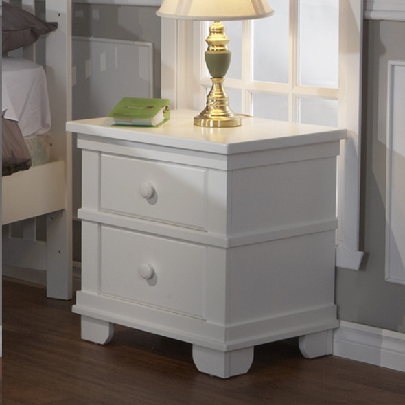Pali Lucca Collection Nightstand in White