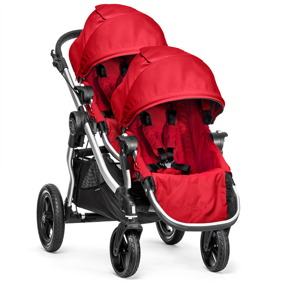 Baby Jogger City Select Second Seat Kit-Silver Frame-Ruby