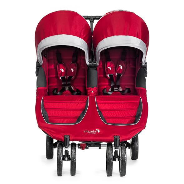 Baby Jogger City Mini Double Stroller in Crimson/Grey