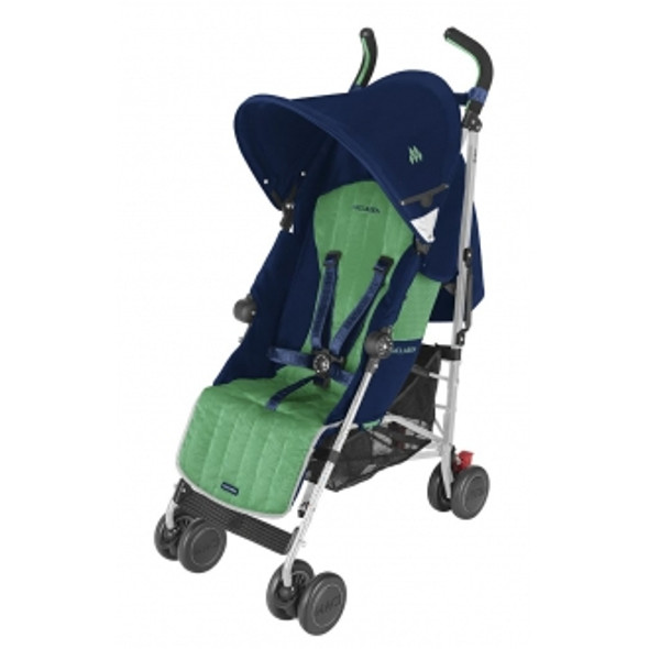 Maclaren Quest Sport Stroller in Medieval Blue and Jelly Bean