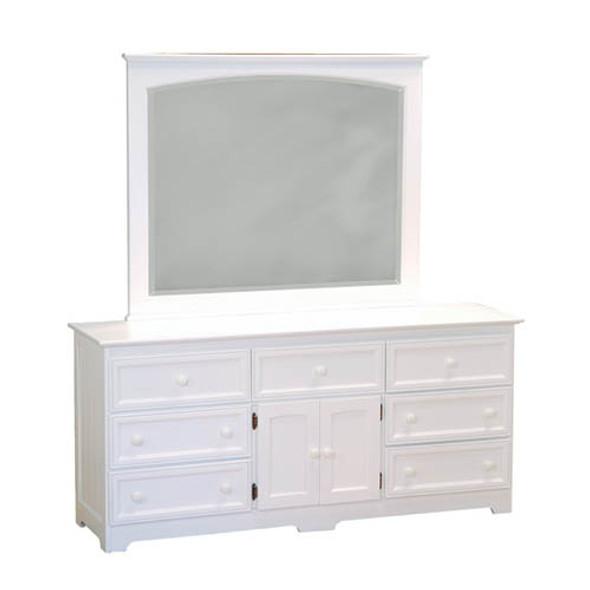 Atlantic Manhattan Seven Drawer Dresser in White-1