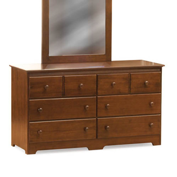 Atlantic Windsor Six Drawer Dresser in Antique Walnut-1