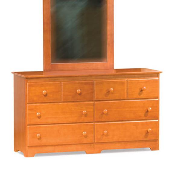 Atlantic Windsor Six Drawer Dresser in Light Cherry-1