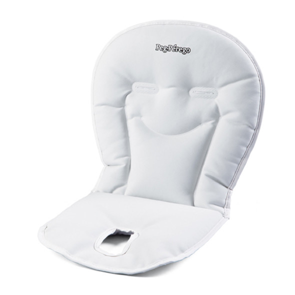 Peg Perego Booster Cushion in Latte-Lovely White