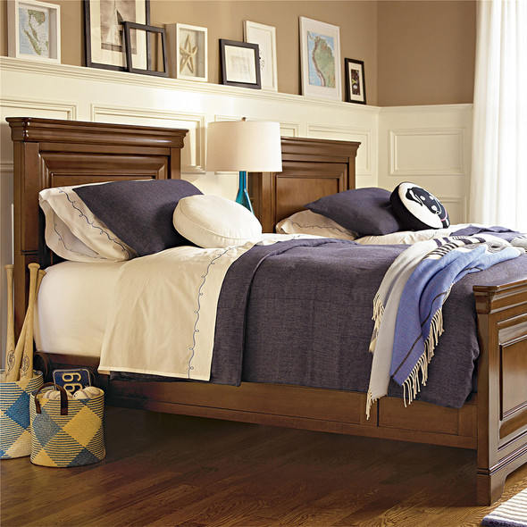 Smart Stuff Classics 4.0 Twin Size Panel Bed in Saddle Brown
